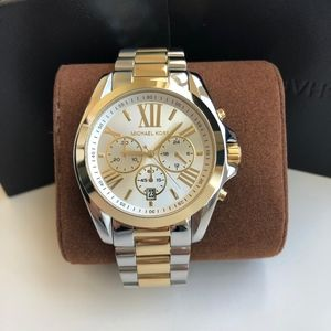 Michael Kors Silver/Gold  Bradshaw Watch MK5627